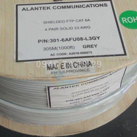 Cáp mạng Alantek Cat6A FTP- 23AWG, 4-pair TIA/EIA 568B, ISO/IEC 11801, UL 444 -301-6AFU08-L3GY