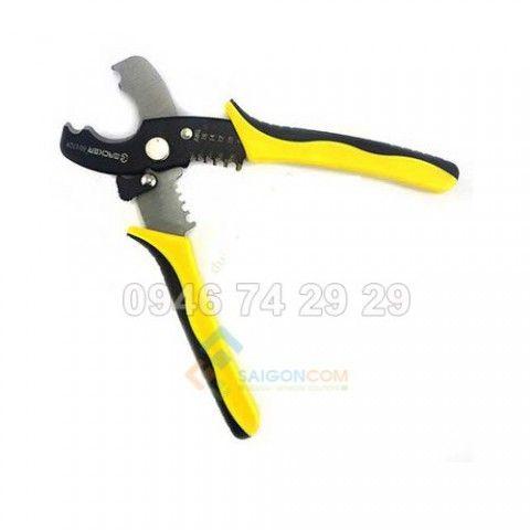 Kìm cắt cáp và tuốt dây điện Eacker 604328