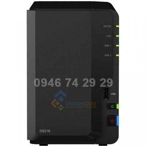 Server lưu trữ  Synology DiskStation DS218 2-Bay NAS Enclosure