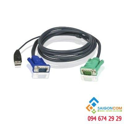 Cáp VGA kết hợp cổng USB KVM dài 3M với 3 trong 1 SPHD