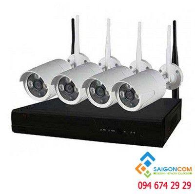 Bộ Camera Wifi 1.3MP - 4 kênh 9604WF lắp ngoài trời