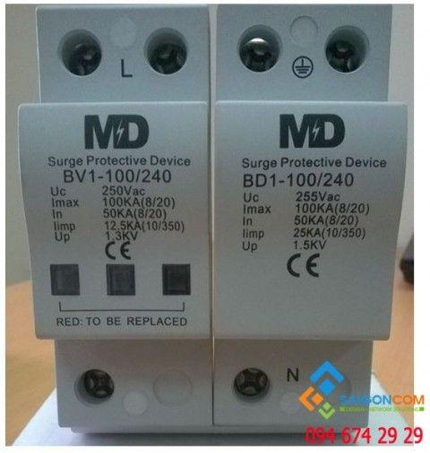 Thiết bị Cắt Sét 1 Pha AIDITEC BD2-100/240 dòng cắt 100KA