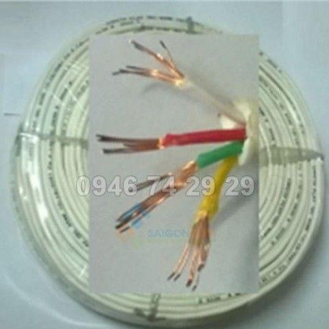 Cáp điện thoại KMP 4 lọi  7 sợi mềm 2P  - 0.18/7x4 cuộn 200m