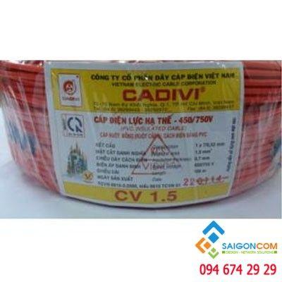 Dây cáp điện đơn CADIVI 1x1.5 - 0.6/1KV