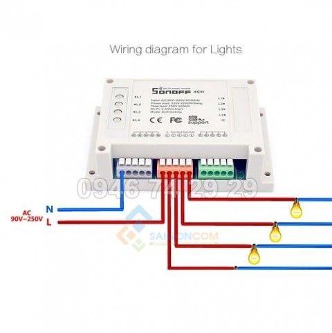 Công tắc điều Khiển hệ thống điện Từ Xa qua Wifi