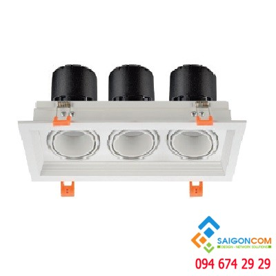 Đèn led ốp trần 3 chế độ màu 3x12W
