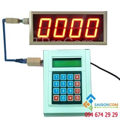 Máy cấp số thứ tự SG16F - bàn phím chọn số tại quầy- màn hình LED
