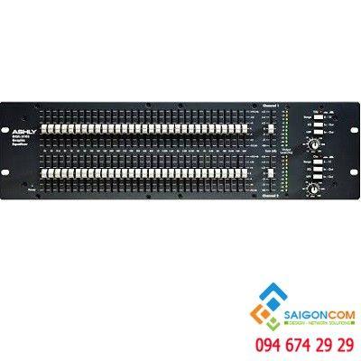 Equalizer Ashly GQX 3102 có hai kênh 1/3 quãng tám EQ