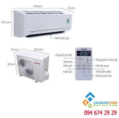 Máy lạnh Toshiba 1hp H10QKSG