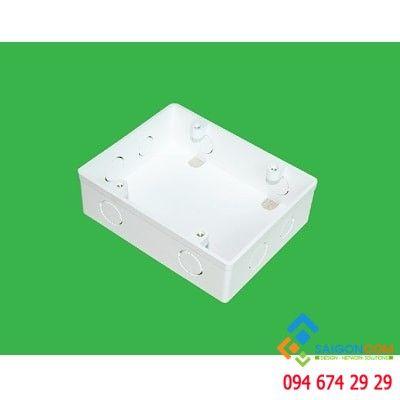 Hộp nhựa âm tường dùng cho 2 mặt đơn MPE