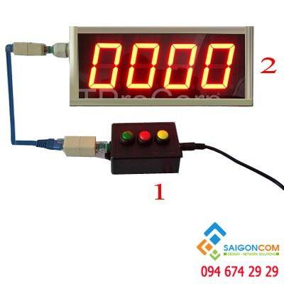 Máy cấp số thứ tự SGI783 hiện thị mà hình số