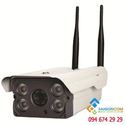 Camera IP 1.0MP không dây dùng ngoài trời, hỗ trợ thẻ nhớ
