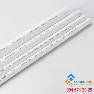 Ống nhựa luồn dây điện GOMAX 25mm- 25 cây-bó - lực nén 750- dày 1.80