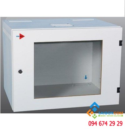Tủ rack treo tường 6U- D600, tôn 3C, sơn tỉnh điện, thiết kế đúng chuẩn