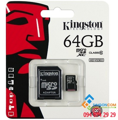 Thẻ nhớ Micro SDHC Kingston 64GB
