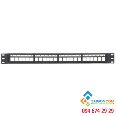 Patch panel frame NetKey™ 24-port