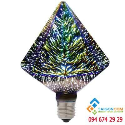 Đèn led edison 3D kim cương lớn