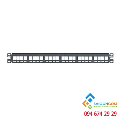 Patch panel NetKey™ Flush Mount, 24 Port, 1 RU