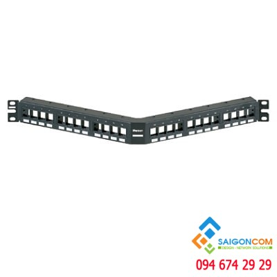 Patch panel NetKey™ Angled, 24 Port, 1 RU