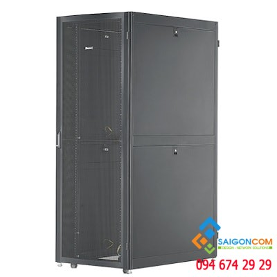 Tủ rack 42U D1000mm, black cabinet & accessories