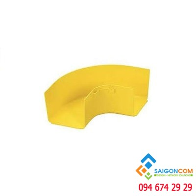 "Fitting, Horizontal Right Angle, 4"" x 4"" (100mm x 100mm), FiberRunner, YL"