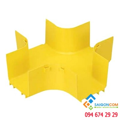 Fitting, 4-way cross, 4x4  (100mm x100mm), FiberRunner, YL