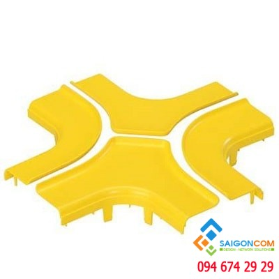 Split cover, 4-way cross, 4x4  (100mm x100mm), FiberRunner, YL
