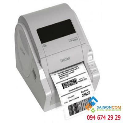 Máy in nhãn giấy decal TD-4000, khổ in max 102mm