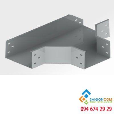 Co T cho máng cáp 150x100x1.5 bao gồm nắp, thép sơn tĩnh điện