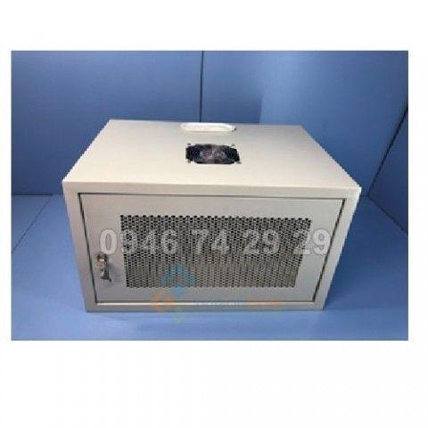 Tủ rack 9U trong nhà  treo tường có phụ kiện và quạt