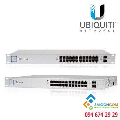 Bộ chia tin hiêu  Switch UBIQUITI Controller 24 port 10/100/1000+ 2 port SFP