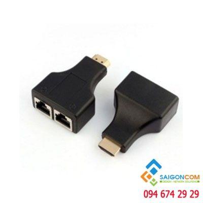 Bộ HDMI kéo dài bằng cáp mạng