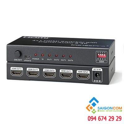 Bộ chia HDMI 1 ra 4 Độ phân giải  4K