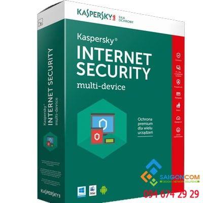 Phần mềm diệt virut Kaspersky Internet security dùng cho 1PC