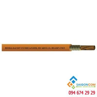 Cáp chống cháy Benka Single Core  1x1,5 mm2, 600/1000V