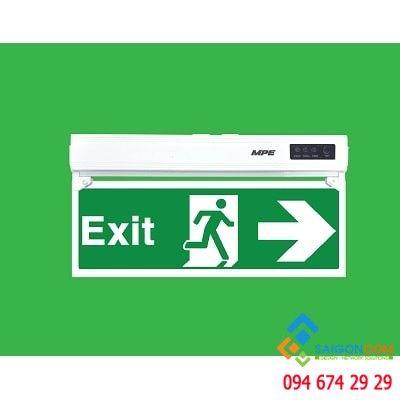Đèn led Exit thoát hiểm 1 mặt phải