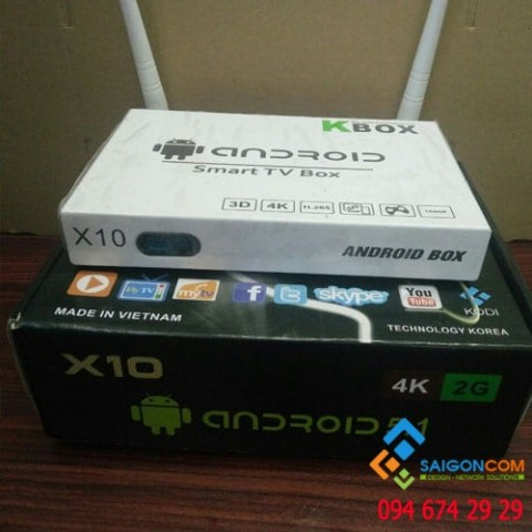 Đầu Android TV Box Smart tivi X10 - Ram 2GB