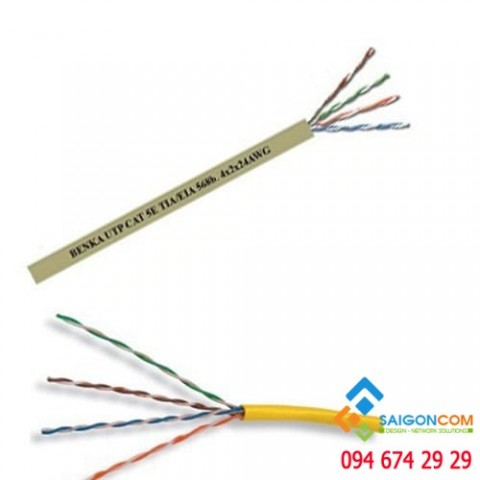 Cáp  U/UTP CAT.5E Cable 4×2×24 AWG Benka