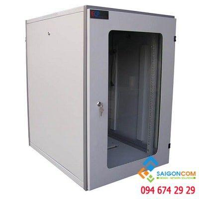 """Tủ Comrack 19"""" 12U D600 có phụ kiện, dùng trong nhà, dày 1.2mm"""