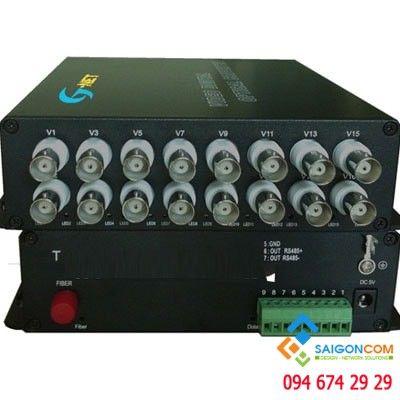 Bộ chuyển đổi quang 16 kênh danh cho camera , khoảng cách 20km