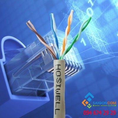 Cáp mạng Hosiwell Cat5e UTP  dùng trong thang máy Cable 4P x 24 AWG