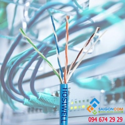 Cáp mạng Hosiwell Cat5e UTP Patch Cable  4P x 24 AWG