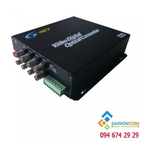 Bộ chuyển đổi quang 8 kênh sự dụng cho camera AHD CVI TVI 1080P