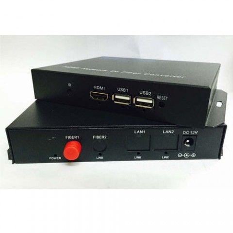 Bộ nối dài 200m  cáp HDMI bằng cáp mạng có USB