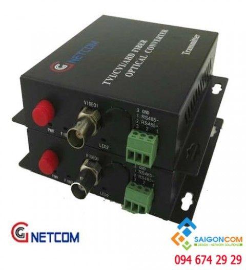 Bộ chuyển đổi quang video 1 kênh 720P/960P/1080P cho camera AHD/CVI/TVI.  RS 485/PTZ
