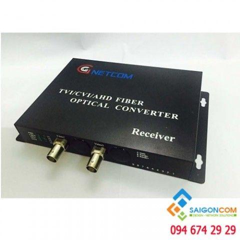 Bộ chuyển đổi Video sang quang 2 kênh CVI/ TVI/ AHD 1080P