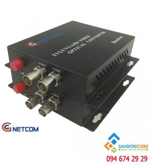 Bộ chuyển đổi quang video 2 kênh 720P/960P/1080P cho camera AHD/CVI/TVI