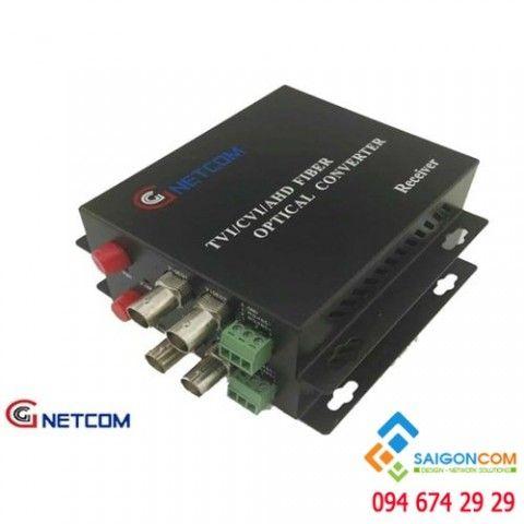 Bộ chuyển đổi quang video 2 kênh 720P/960P cho camera AHD/CVI/TVI.  RS 485/PTZ