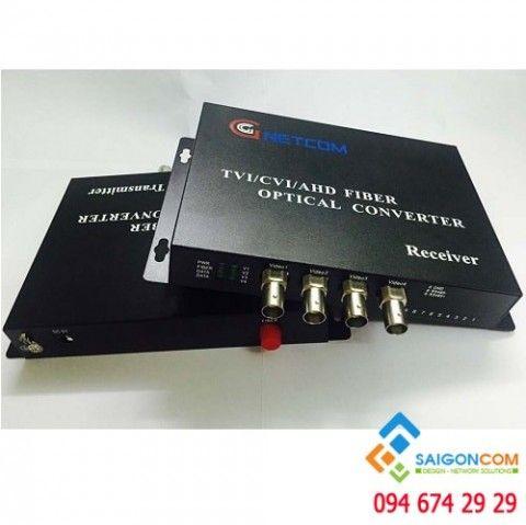Bộ chuyển đổi Video Quang 4 Kênh camera CVI/TVI/AHD 1080P
