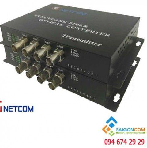 Bộ chuyển đổi quang video 4 kênh 720P/960P/1080P cho camera AHD/CVI/TVI